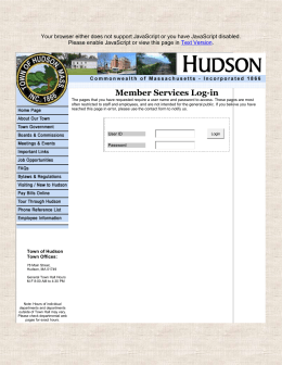 board of health - Town of Hudson