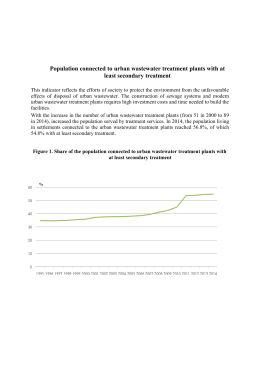 8.1. Population connected to urban wastewater treatment plants with