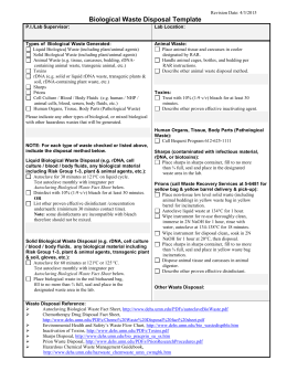 Waste disposal plan form for Waste management strategy template