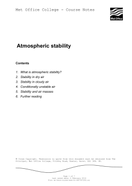 1. What is atmospheric stability?