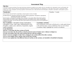Example Assessment Map