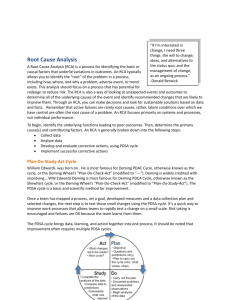 Root Cause Analysis section from the Care Transition Toolkit
