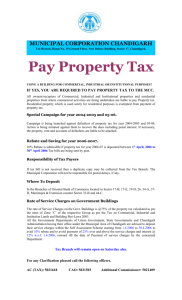 Pay Property Tax - Municipal Corporation Chandigarh