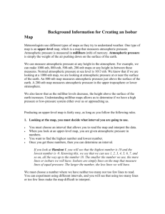 Background Information for Creating an Isobar Map