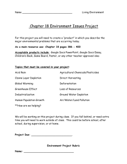 Chapter 18 - Environment Issues Project