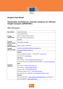 SMARTSET Project fact sheet