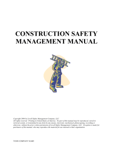 DOC Construction Safety Management Manual