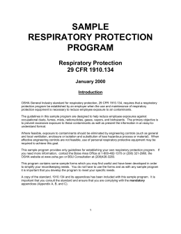 Full Respiratory Protection Sample Program
