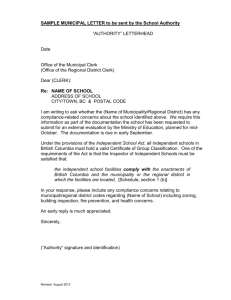 Sample Municipal Compliance Letter