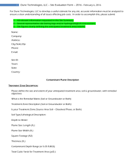 Dune Technologies, LLC – Site Evaluation Form