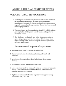 AGRICULTURE - RHS-APES