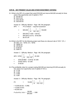chp.06 net present value and other investment criteria