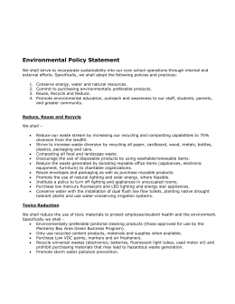 example environmental policy california green business program