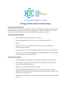 Energy Conservation Simple Steps