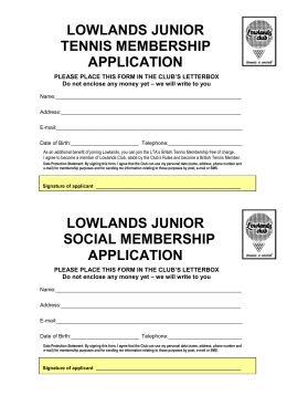 junior-tennis - Lowlands Club