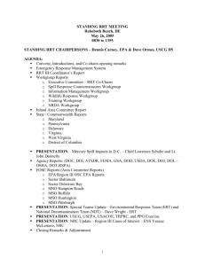 Standing RRT III Meeting Minutes