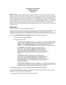 Essay Apa Style Tuesdays With Morrie Critical Summary 400 Word Essay Sample also Essays On Jealousy Study Guide For Tuesdays With Morrie Test Capital Essay