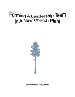 FORMING A LEADERSHIP TEAM