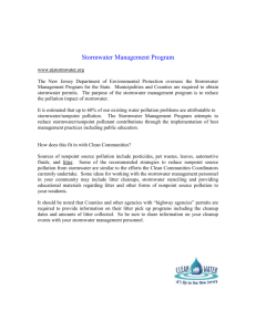 Stormwater Management Program - New Jersey Clean Communities