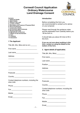 Application form - Cornwall Council