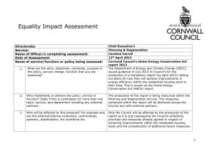EQAULITY IMPACT ASSESSMENTS REVISED