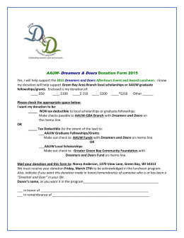 AAUW- Dreamers & Doers Donation Form 2014