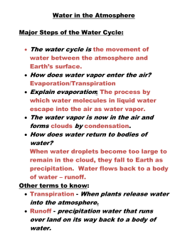 Water In The Atmosphere Notes KEY