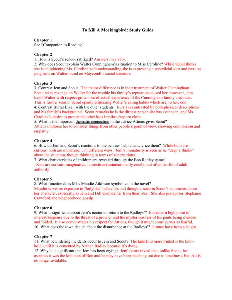 worksheet To Kill A Mockingbird Chapter 1 Worksheet to kill a mocking bird chapter 4 birds of prey mockingbird i l