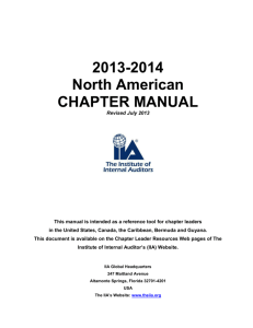 IIA Chapter Manual - The Institute of Internal Auditors