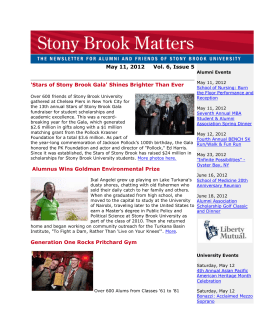 May - Alumni - Stony Brook University