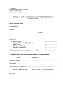 Donations - Australian-German Welfare Society Inc