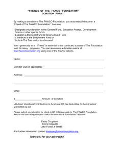 Friends Donation Form - The FAWCO Foundation