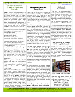 Oct-Dec2011-Pg2 - Friends of Henderson Libraries