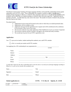 ICTFL Fund for the Future Scholarships Application