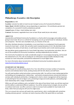Philanthropy Executive: Job Description