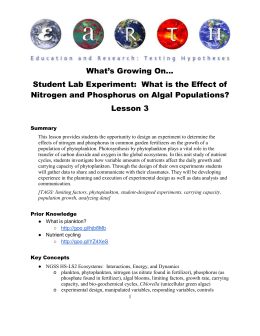 What`s Growing On… Student Lab Experiment: What is the Effect of