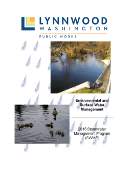 Stormwater Management Program (SWMP)