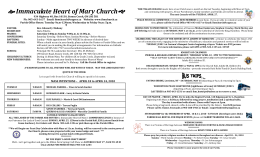 April 18, 2010 - Immaculate Heart of Mary Parish