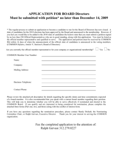 APPLICATION FOR BOARD NOMINATION FORM (Part