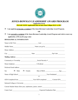 Jones-Bowman Scholarship Fund