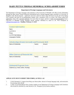 mary pettus thomas memorial scholarship form