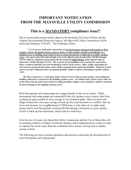 IMPORTANT NOTIFCATION - Maysville Utility Commission