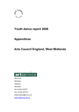 Appendices for Youth dance report