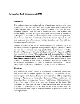Integrated Pest Management (IPM) - Department of Agriculture & Co