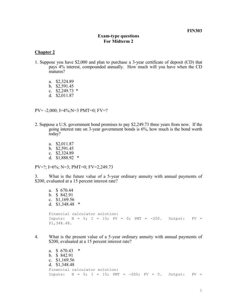 Exam Type Questions