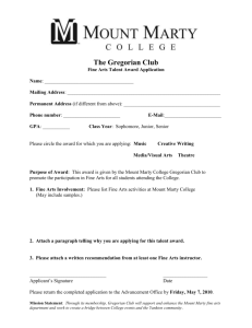 Sister Ann Kessler Scholarship Application