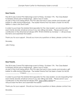 (Sample Parent Letter) - the Lees Corner PTA Website