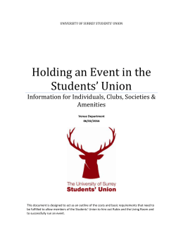 Holding an Event in the Students` Union