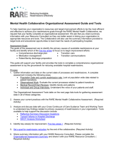 Organizational Assessment Guide and Tools