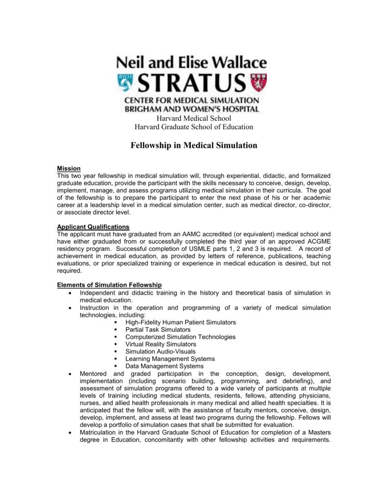 Fellowship in Medical Simulation
